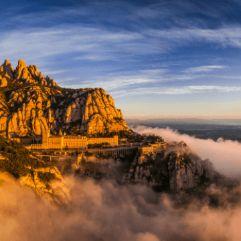 Vista de Montserrat durante una excursion