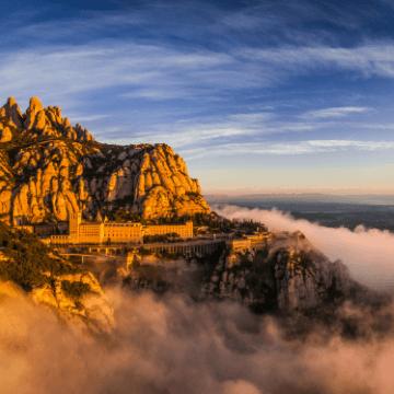 Vista durante nuestras excursiones a Montserrat