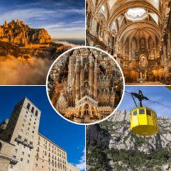 Imágenes de nuestros tours de Montserrat y Barcelona en un día