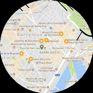 Mapa de nuestra visita: Barrio Gótico, Barcelona